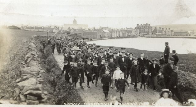 Orkney Territorials Marching Into Camp