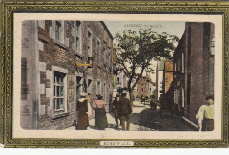 Postcard of Albert St, Kirkwall