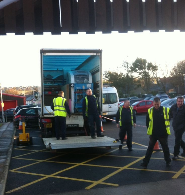 The CT Scanner arriving at the Balfour Hospital
