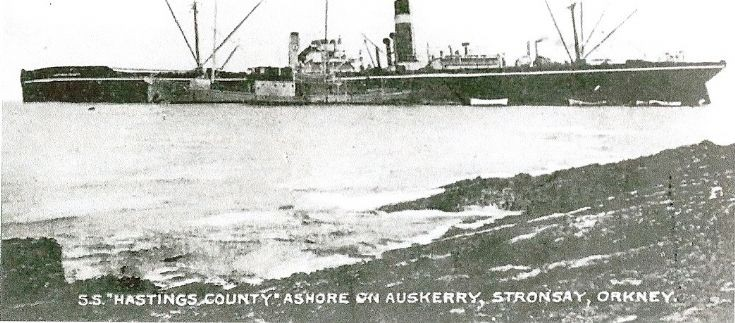 SS Hastings County ashore on Auskerry
