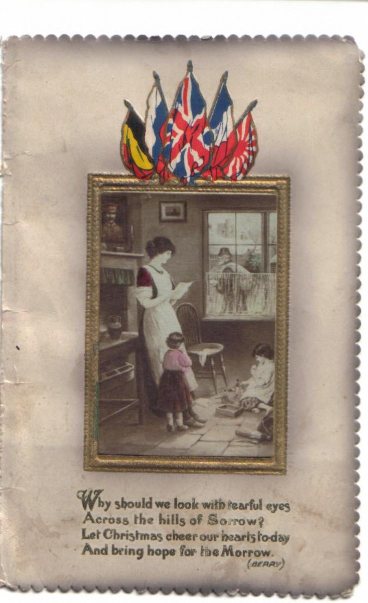 World War 1 Xmas card to Sanday