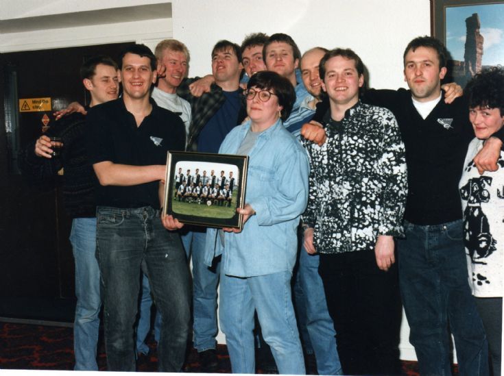 Hotspus FC presentation to the Royal Hotel