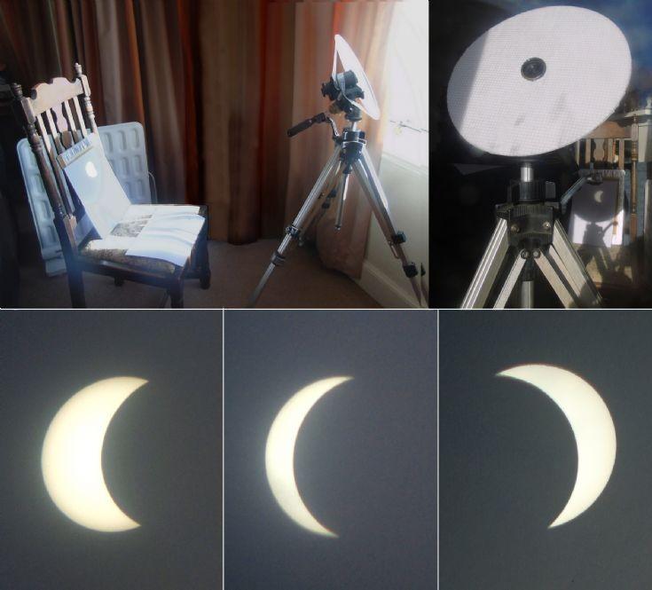 Near total solar eclipse 20 March 2015