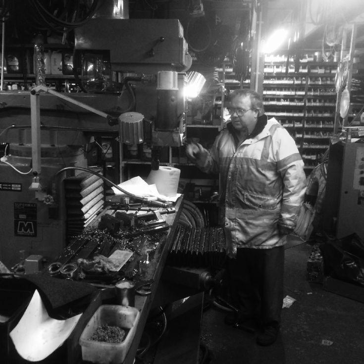 Derek Ryrie at his shop in Hatston