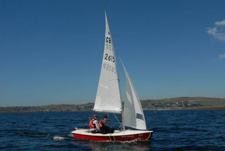 Still Game under sail at Stromness