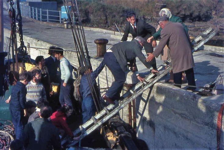 Disembarkation at Graemsay, 1971
