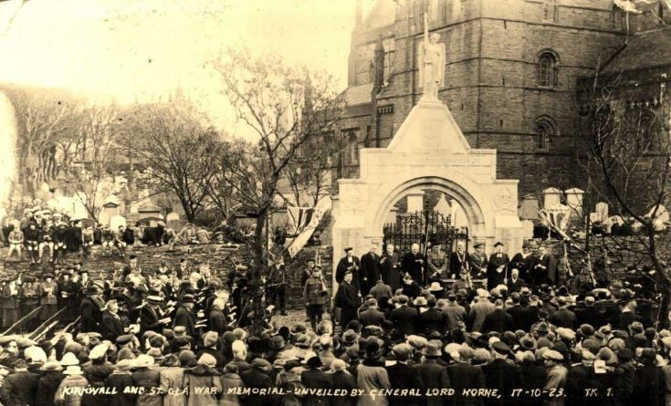 Unveiling of Kirkwall and St Ola War Memorial