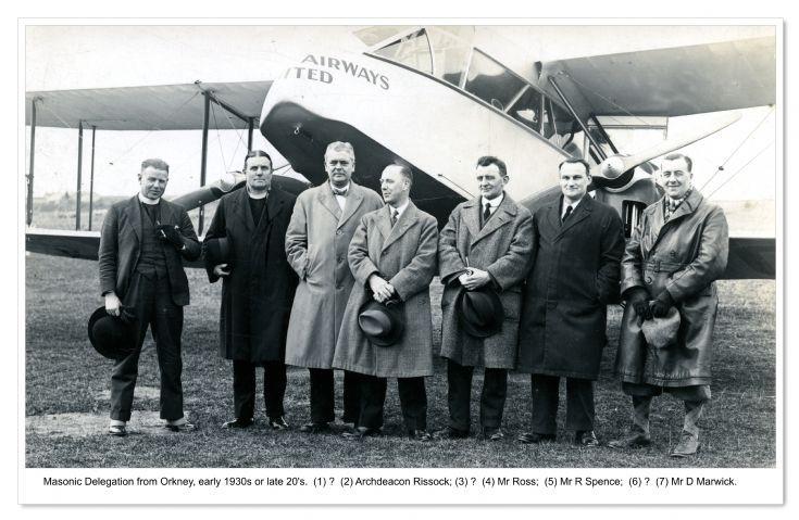 Orkney Masons visit Shetland by plane