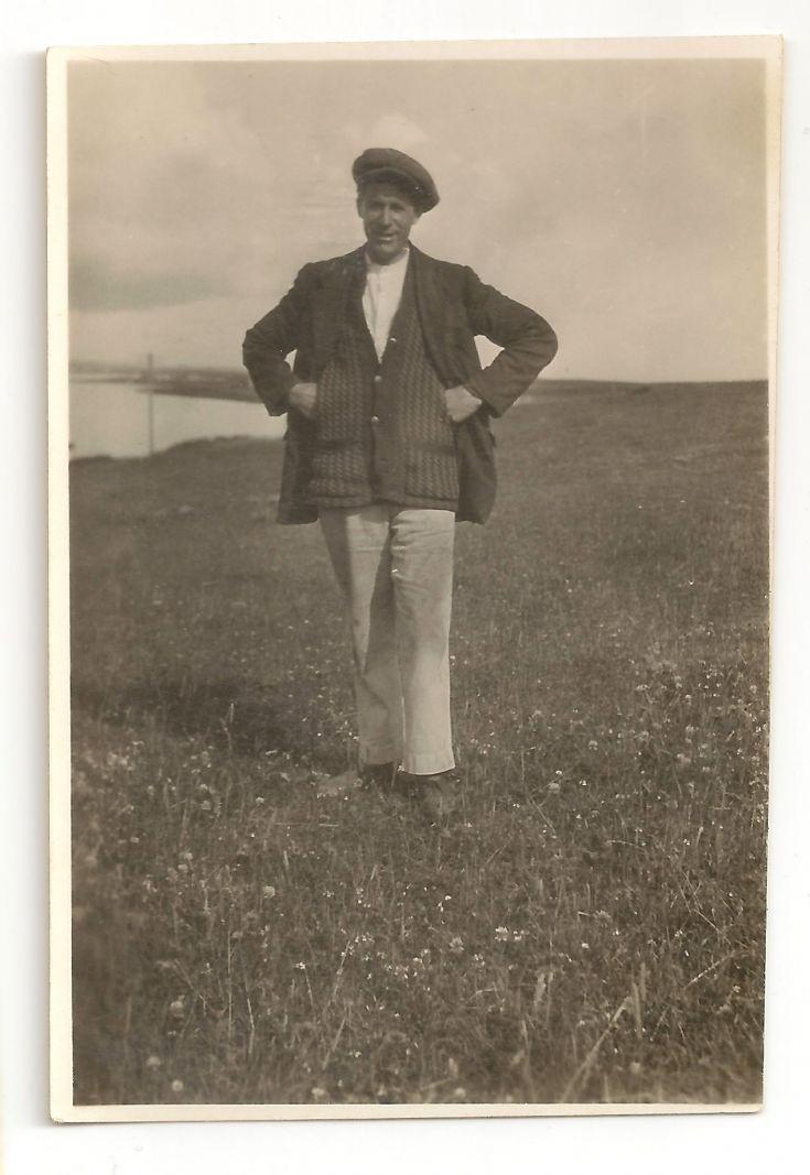 Mystery gent in a field