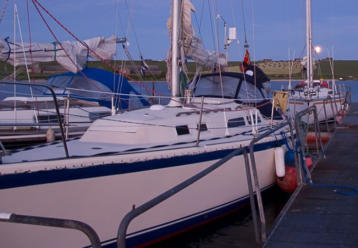 Visiting yachts from Lossiemouth