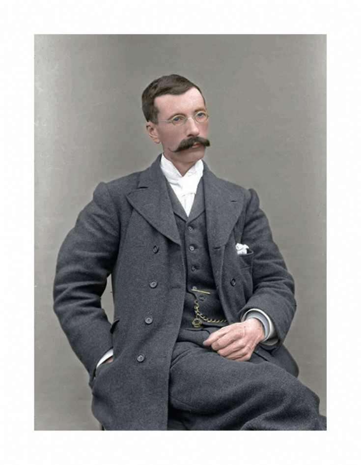 Colourised portrait of Tom Kent