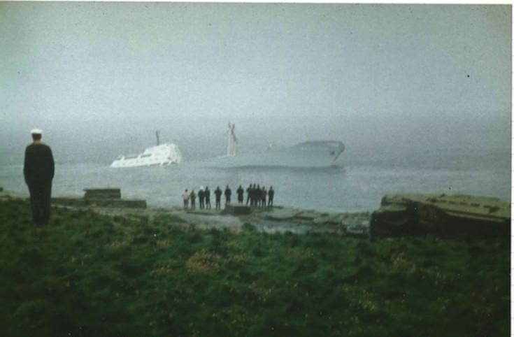 KÄTHE NIEDERKIRCHNER, sunk at Muckle Skerry