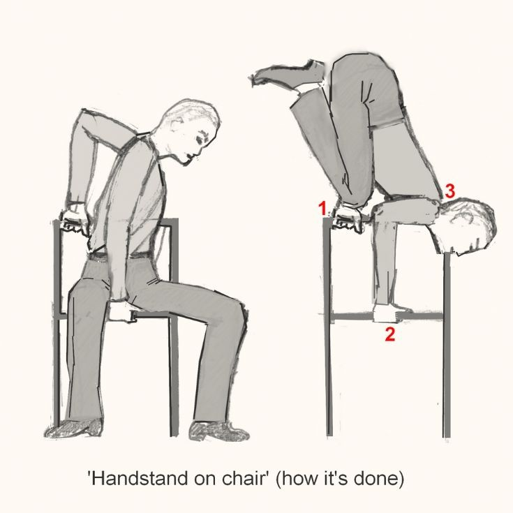 Handstand on chair- how it is done
