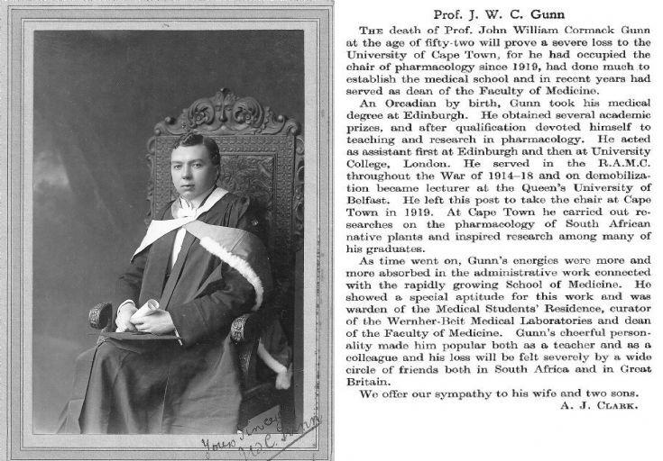 Prof. John William Cormack Gunn
