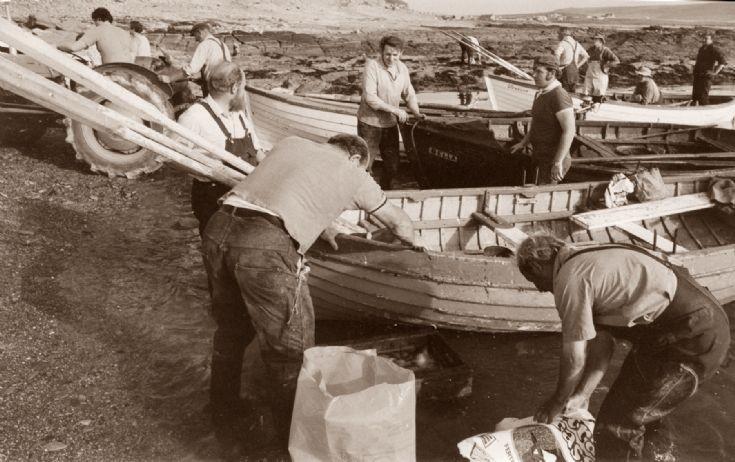 Haddock fishermen in Castra Geo Birsay