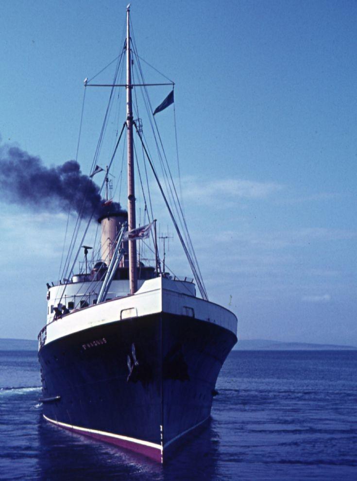 St Magnus(IV) leaving Kirkwall pier c1962