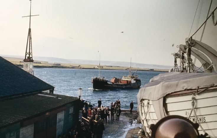 Coming into Kirkwall Harbour 1960
