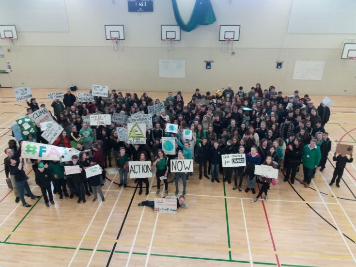 Climate change protest at KGS