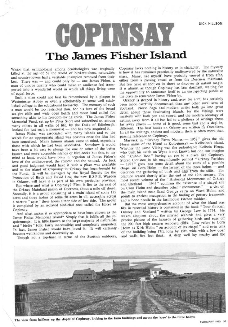 Copinsay- the James Fisher Island 1/3