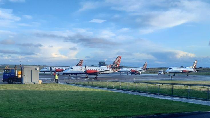 Four Saab 340s at KOI