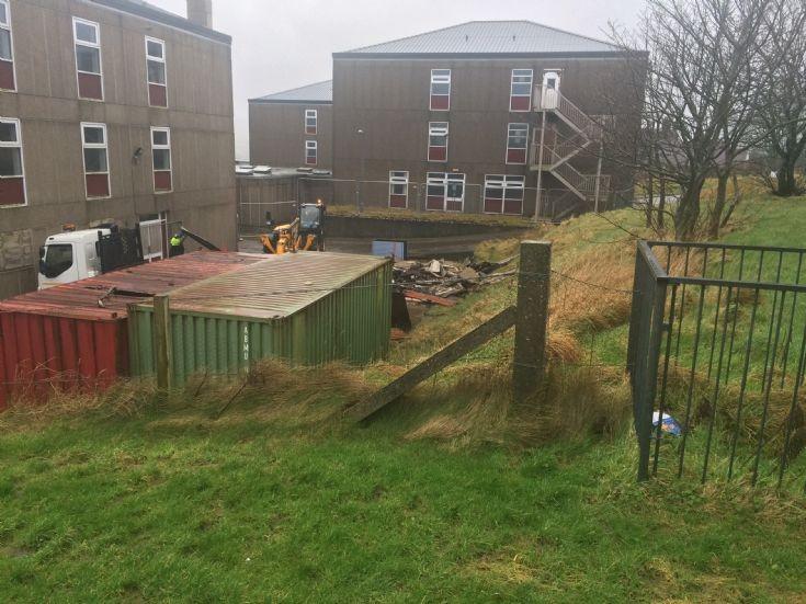 Hostel garages demolition