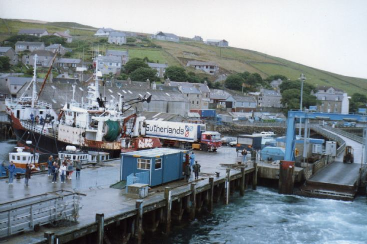 A busy Stromness pier