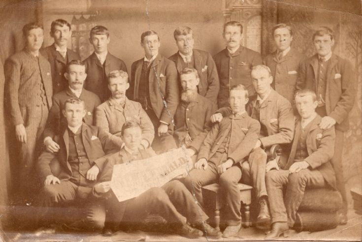 Staff of the Orkney Herald in the 1890s