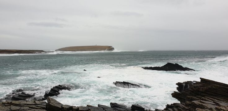 Brough of Birsay on a wild weekend