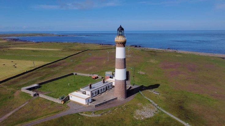 North Ronaldsay Lighthouse at Dennis Head