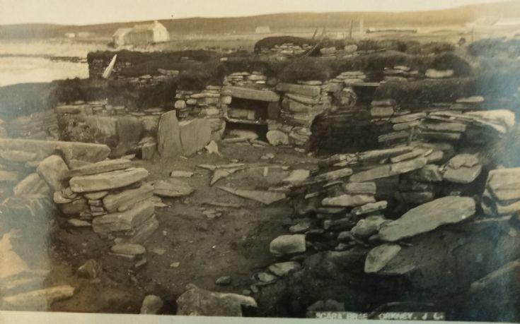 Early photo of Skara Brae