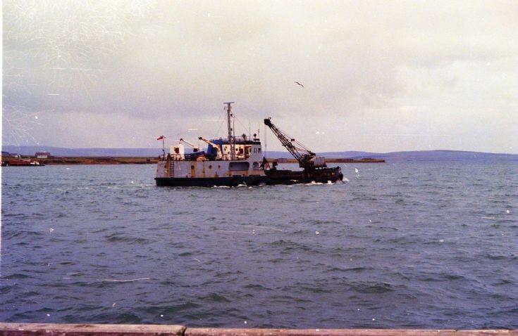 Kirkwall Basin being dredged