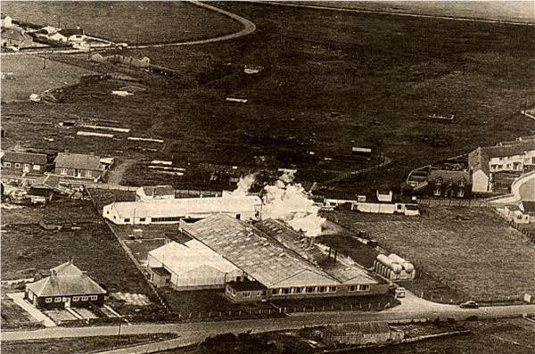 Aerial view of the Old Cheese Factory