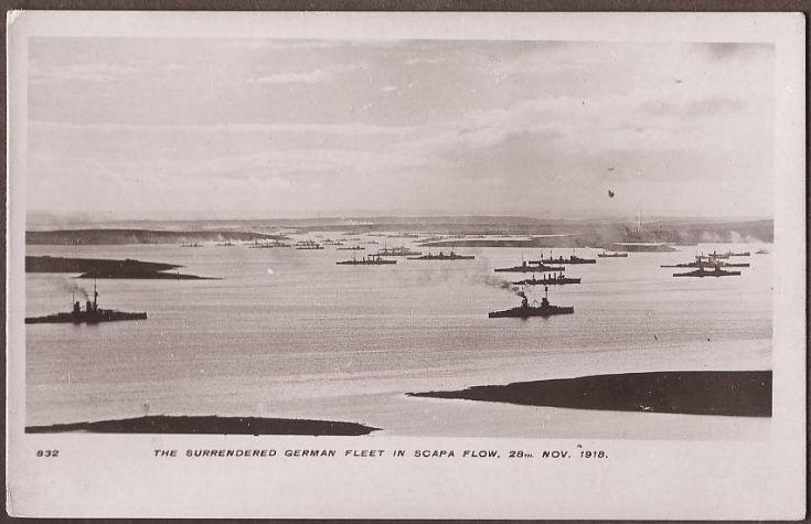 The surrendered german fleet in scapa flow