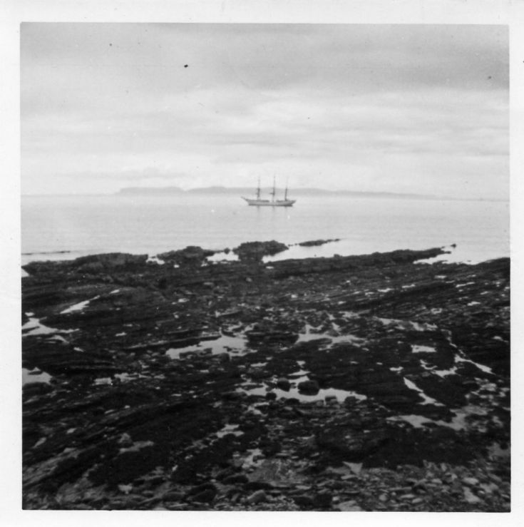 Sailing ship off Deerness 1966