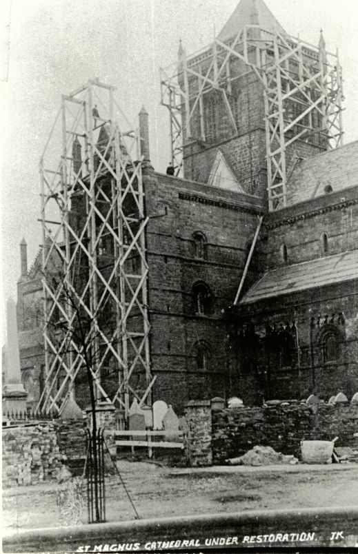 Cathedral under restoration