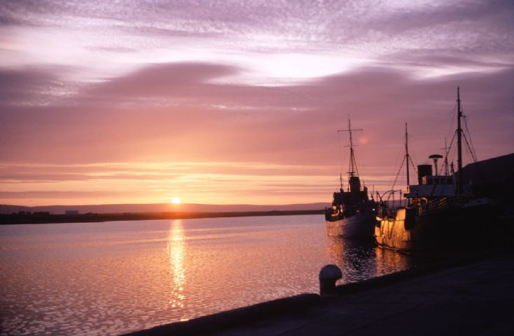 Sunset Kirkwall Pier - 1967
