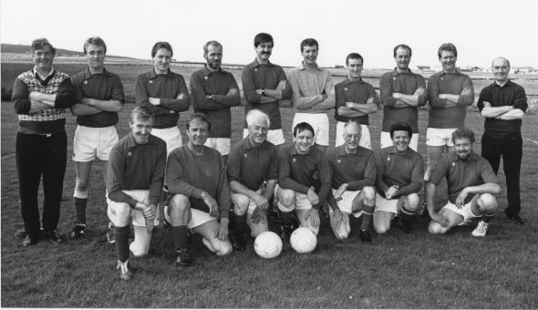 Kirkwall City Pipe band football team