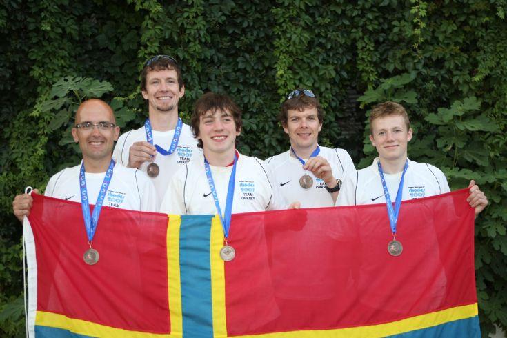 The bronze medal winning Orkney triathlon team