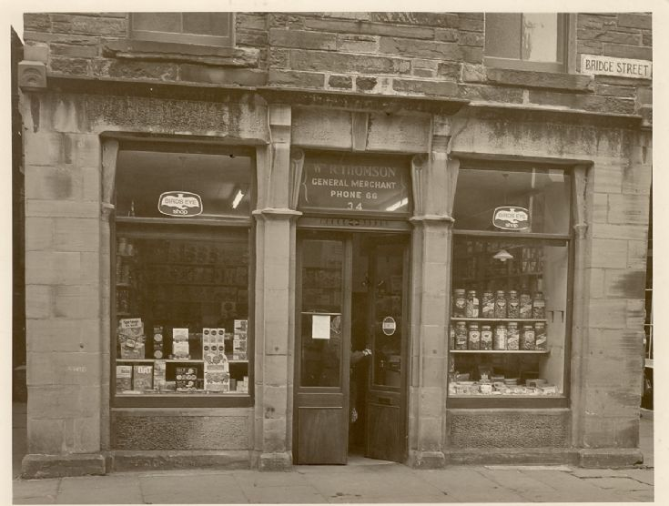 Wilbert Thomson's shop at 'The Brig'