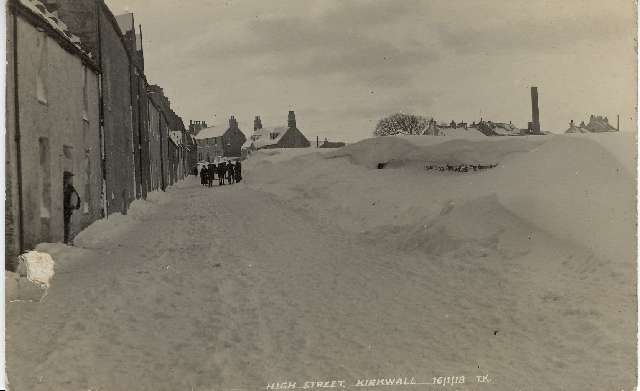High Street in the snow, 1918