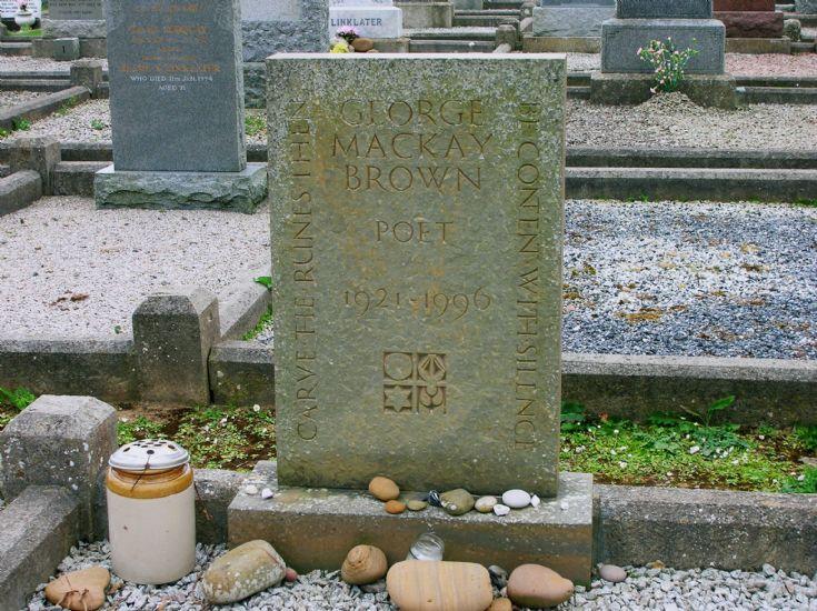 Warbeth Cemetery, George Mackay Brown's Grave