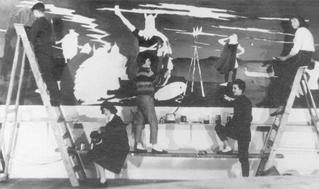 1962 Viking mural