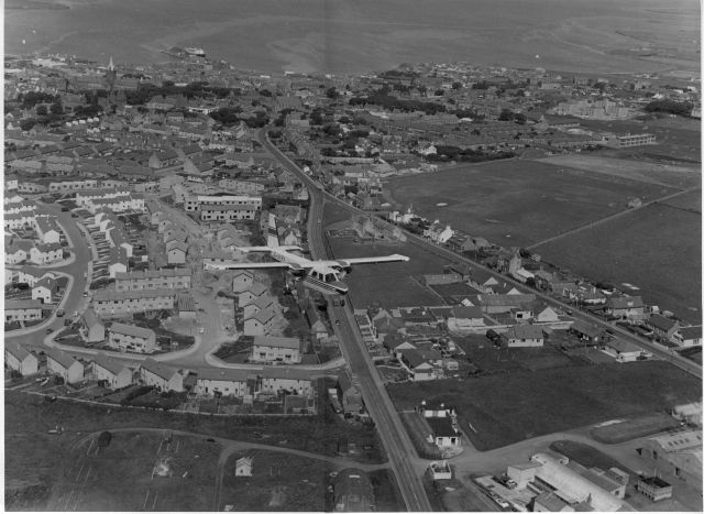 Aerial view of Warrenfiled under construction