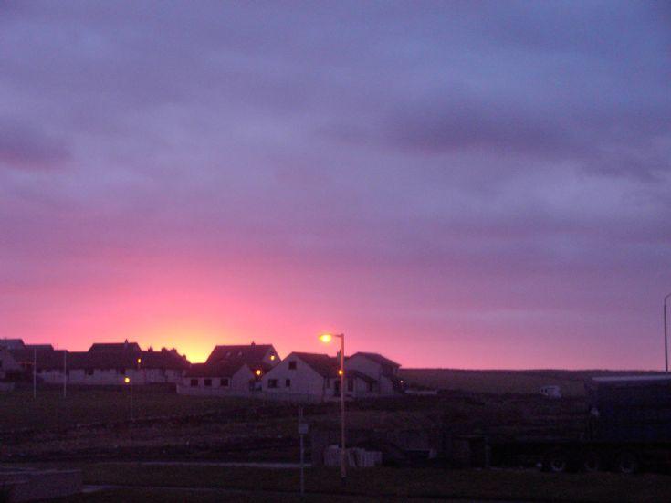 Sunrise over Hamnavoe Stromness