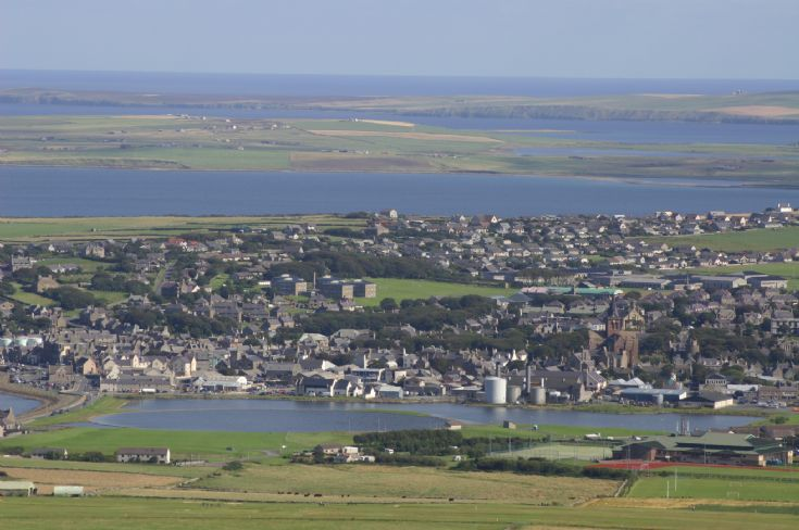Kirkwall from Wideford Hill August 2007