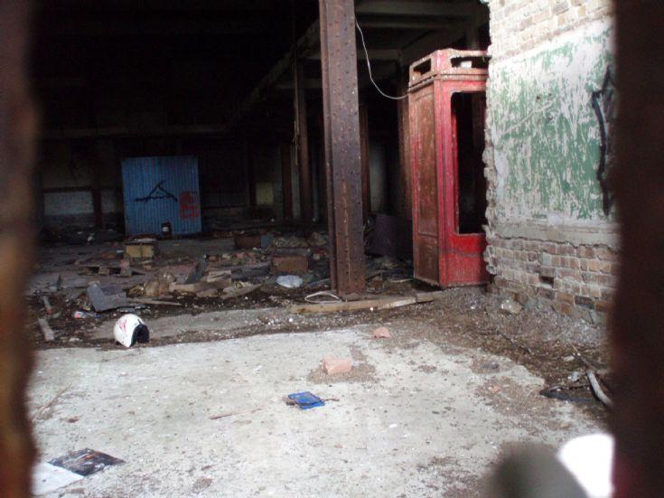 Inside the black building - front entrance