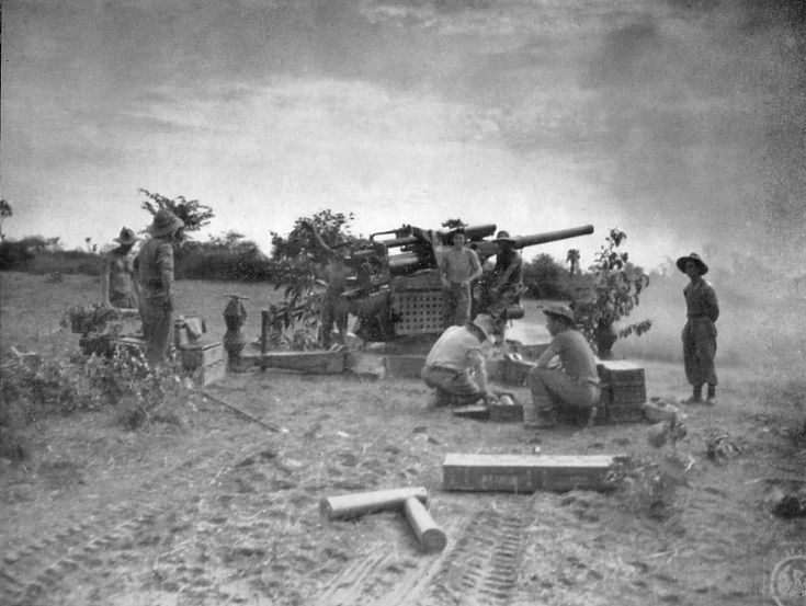 101st H.A.A. Regiment Royal Artillery in action.