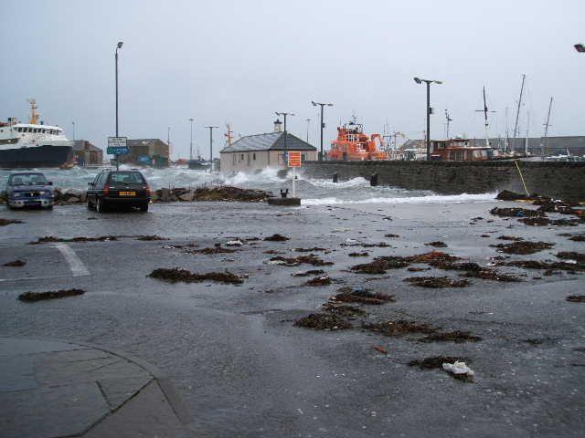 Storm aftermath at Kirkwall Pier