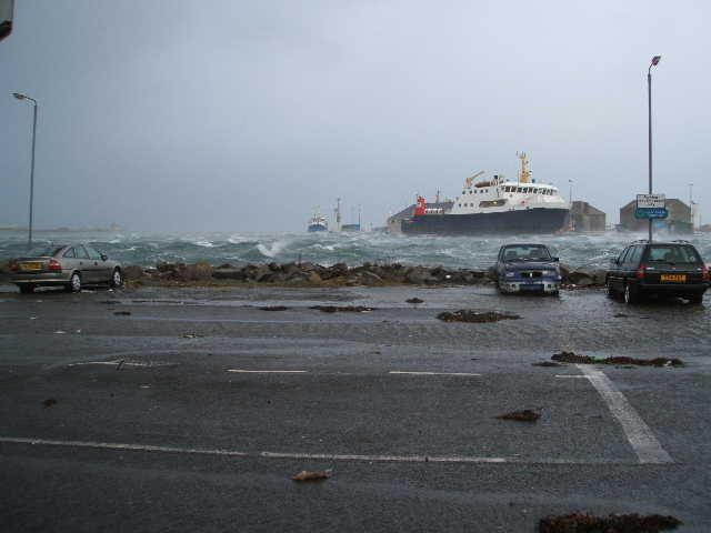 Kirkwall Pier after the storm