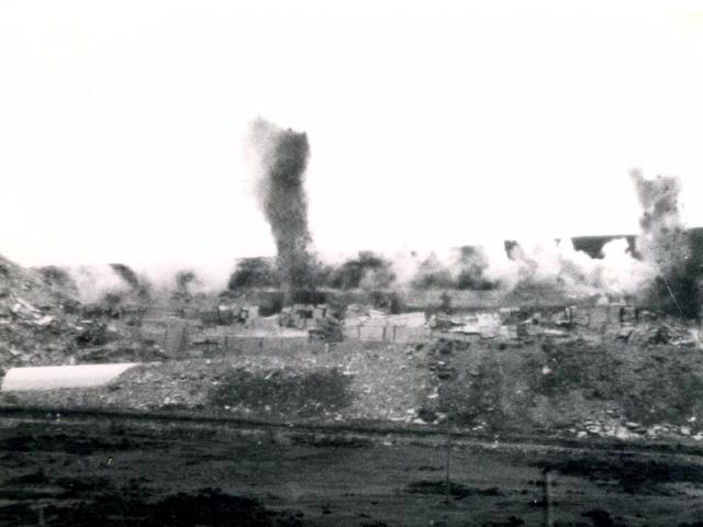 Heddle quarry. Blasting